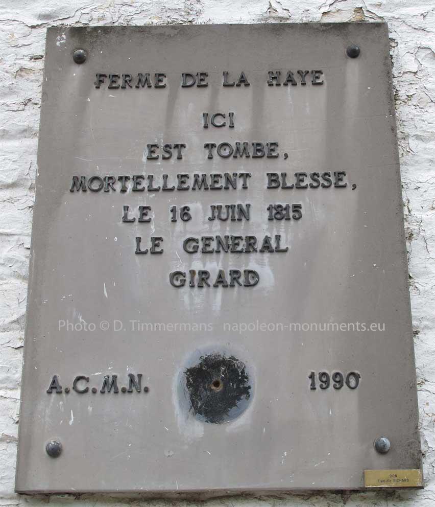 Bataille de LIGNY (Belgique), 16 juin... Girard_avant