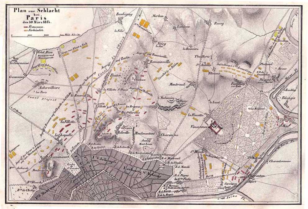 BATAILLE DE PARIS 1814 1814ParisKaussler