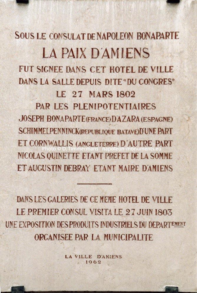 25 Mars 1802   Paix D U0026 39 Amiens