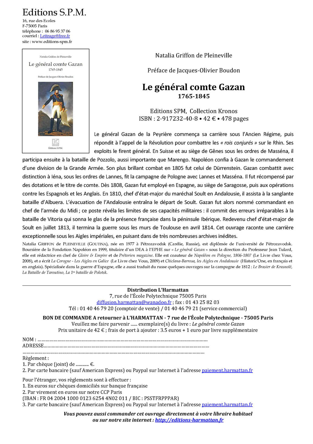 Biographie du Général Gazan Gazan